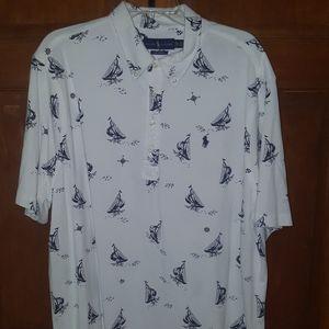 Vtg Polo Ralph Lauren sailboat knit shirt XXL